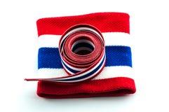 Thailand flag ribbon & wristband Stock Image