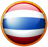 Thailand flag on round button Royalty Free Stock Photography