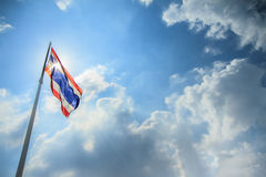 Thailand flag and sunlight Stock Images