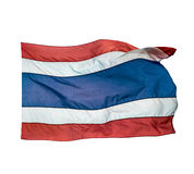 Thailand flag of waving on white background Stock Images