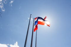 Thailand flag waving on the wind Stock Photography