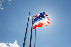 Thailand flag waving on the wind Royalty Free Stock Photo