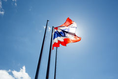 Thailand flag waving on the wind Royalty Free Stock Image