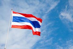 Thailand flag with the wind wave Royalty Free Stock Photo