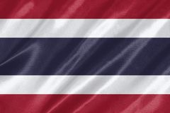 Thailand flagga stock illustrationer