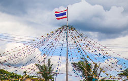 Thailand flagga som föreställer landet Arkivfoto