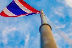 Thailand flagga som föreställer landet Fotografering för Bildbyråer