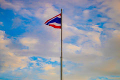Thailand flagga som föreställer landet Arkivbilder
