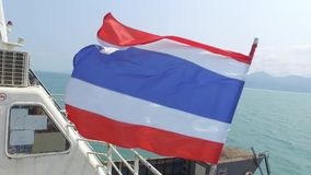 Thailand-Flagge stock footage