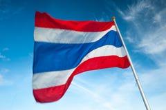 Thailand flaggstång, flaggstång Arkivbilder