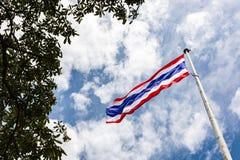 Thailand Flagpole. Thailand Flagpole On Sunshine Day Royalty Free Stock Photo