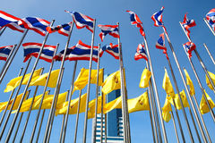 Thailand flags. And blue sky Stock Photography