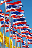Thailand flags. And blue sky Stock Photo