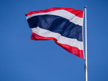 Thailand Flagstaff Winds Blowing. In The Sky Stock Photos