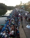 Thailand floating market Bangkok royalty free stock images