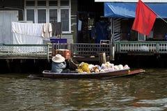 Thailand floating market boat seller Royalty Free Stock Photo