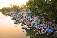 Thailand Floating Market Stock Photo