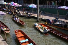 Thailand floating market Royalty Free Stock Photos
