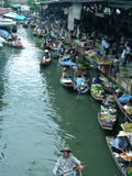 Thailand floating market Stock Images