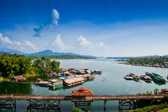 Thailand Floating Town Royalty Free Stock Photography