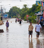 Thailand flood Royalty Free Stock Photo