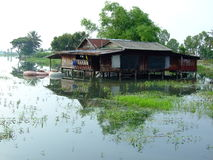 Thailand flooded homes Royalty Free Stock Image