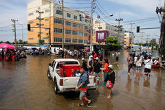 Thailand Floods Royalty Free Stock Photo