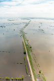 Thailand floods. Natural Disaster, Aerial photograph, , Natural Disaster Stock Image