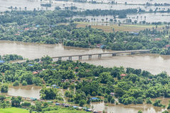 Thailand floods, Natural Disaster.  Royalty Free Stock Photos