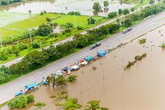 Thailand floods. Natural Disaster Royalty Free Stock Photos