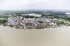 Thailand floods. Year 2554, Natural Disaster Royalty Free Stock Photo