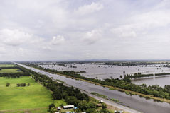 Thailand floods. Year 2554, Natural Disaster Royalty Free Stock Images