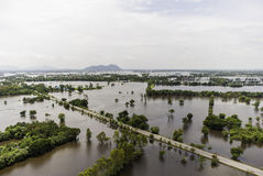 Thailand floods. Year 2554, Natural Disaster Royalty Free Stock Photography