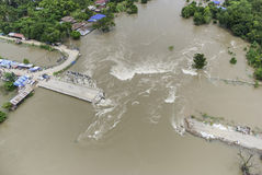 Thailand floods. Year 2554, Natural Disaster Royalty Free Stock Photos