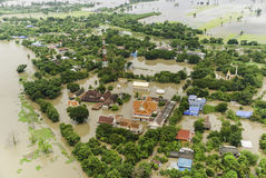Thailand floods. Year 2554, Natural Disaster Stock Photo
