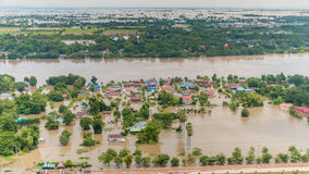 Thailand floods. Year 2554, Natural Disaster Royalty Free Stock Image