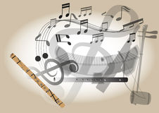 Thailand flute musical instrument Royalty Free Stock Photo