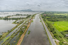 Thailand-Fluten, Naturkatastrophe Lizenzfreie Stockfotos