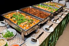 Thailand food buffet. Royalty Free Stock Image