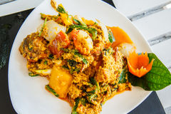 Thailand food crab curry. Stock Images