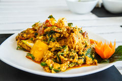 Thailand food crab curry. Royalty Free Stock Photography