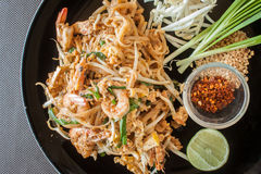 Thailand Food fried with XO sauce and the fried shrimp in Thaila Royalty Free Stock Image