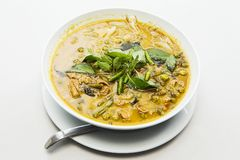 Thailand food Green curry Chicken Stock Image