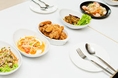 Thailand food. Thailand Isaan food put together beautifully Stock Image