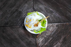 Thailand food, sago on a table. Thailand food, sago on a wooden table Royalty Free Stock Photography