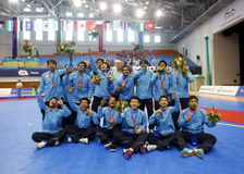 Thailand futsal team received the second runner-up Stock Image