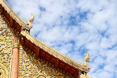 Thailand Gable apex. Temple of thailand Royalty Free Stock Images