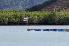 Thailand gammal wood skeppport Arkivfoto