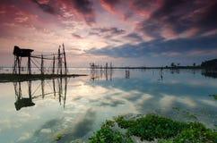 Thailand-Garnelen-Fischen Lizenzfreie Stockfotografie