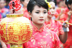 Thailand girl in Chinese style Stock Images